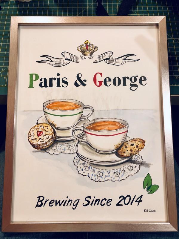 Tea room poster